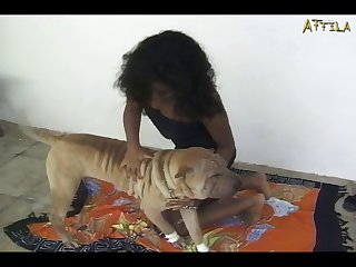 Dog Action With Big Titted Girl (part 1)