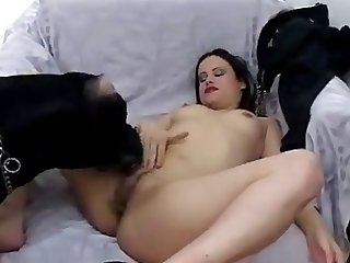 Goth Chick Fucking Her Dog