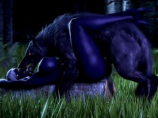 Nualia And A Wolf (noname55)[dog Wolf]3D Bestiality