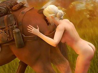 Ciri's Snack (darktronicksfm)[horse]3D Bestiality