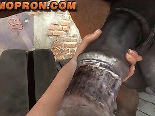 Pov Horsecock Sucking (animopron)3D Bestiality