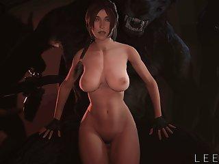 Lara Servicing The Lair [leeterr)[dog Wolf]3D Bestiality