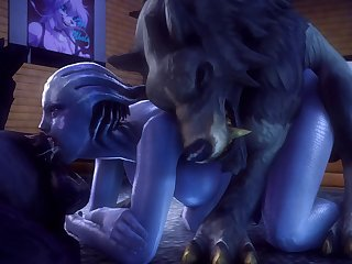 Liara Double Trouble (noname55)[dog Wolf]3D Bestiality